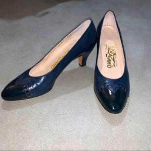 Salvatore Ferragamo Blue Heels